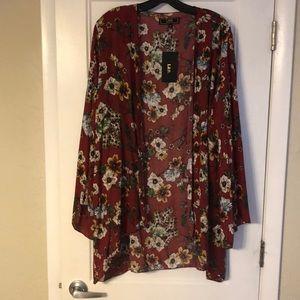Beautiful Flower Print Kimono